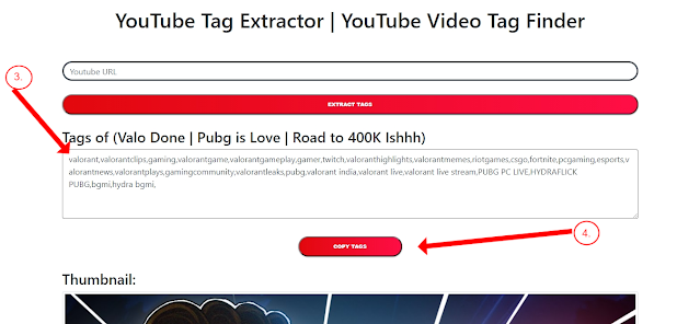 YouTube Tag Finder