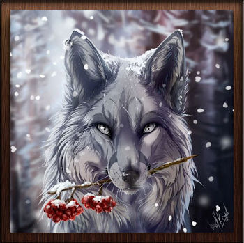Loup Blanc Baies Rouges - Avatar en HD