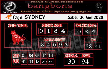 Prediksi Sydney Sabtu 30 Mei 2020 - Bang Bona