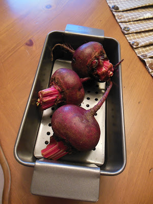 Roasting beets sweetens them for salads and simple eating.