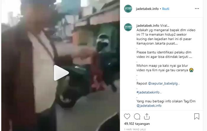 Fakta Video Viral Pria Makan Kucing Hidup-hidup - IGjadetabek.info