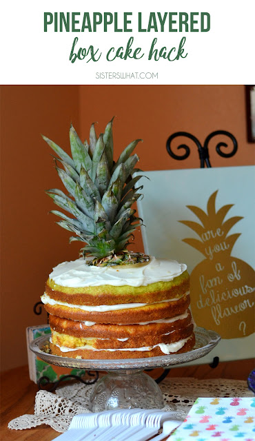 The only pineapple cake recipe you'll need for your pineapple party or just summer party! It's just made using a cake box and canned pineapple!
