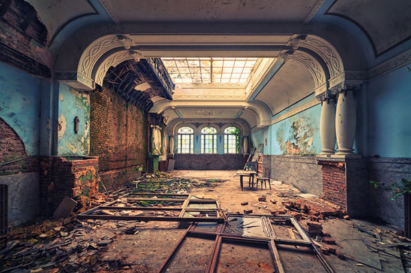 Ballroom in an abandoned hotel