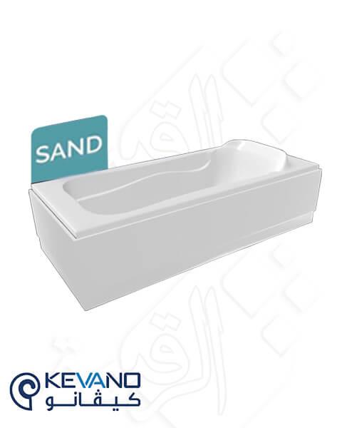 بانيو كيفانو/ ساند أبيض بالجانب 180×80 سم