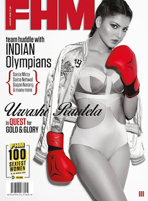 Urvashi Rautela on FHM Magazine Cover August 2016