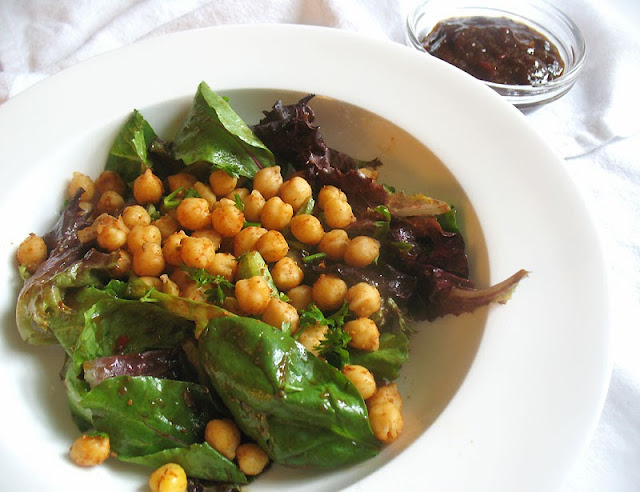 tangy and tart chickpea salad