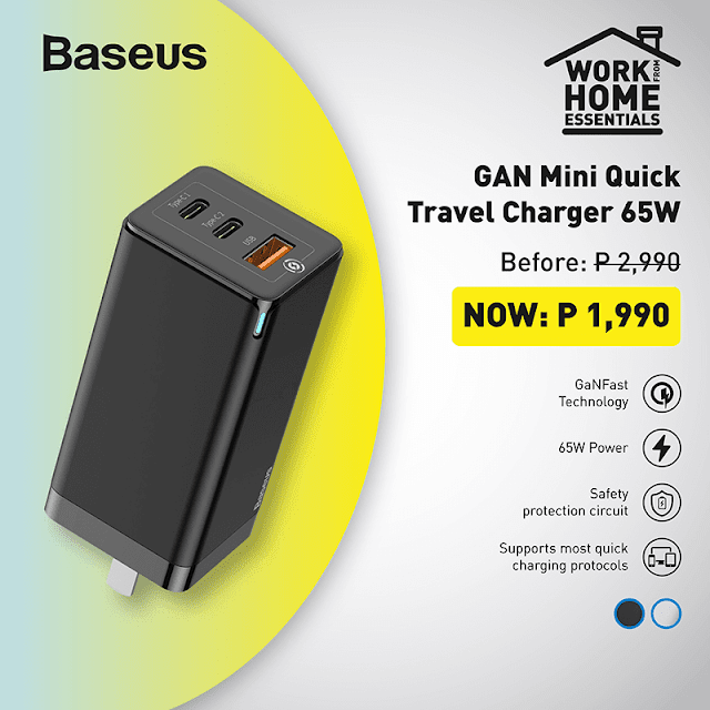 GAN Mini Quick Travel Charger 65W
