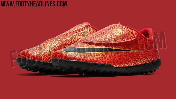 c06dba9ae40 Red   Black   Gold Nike Mercurial Cristiano Ronaldo Boots Leaked ...