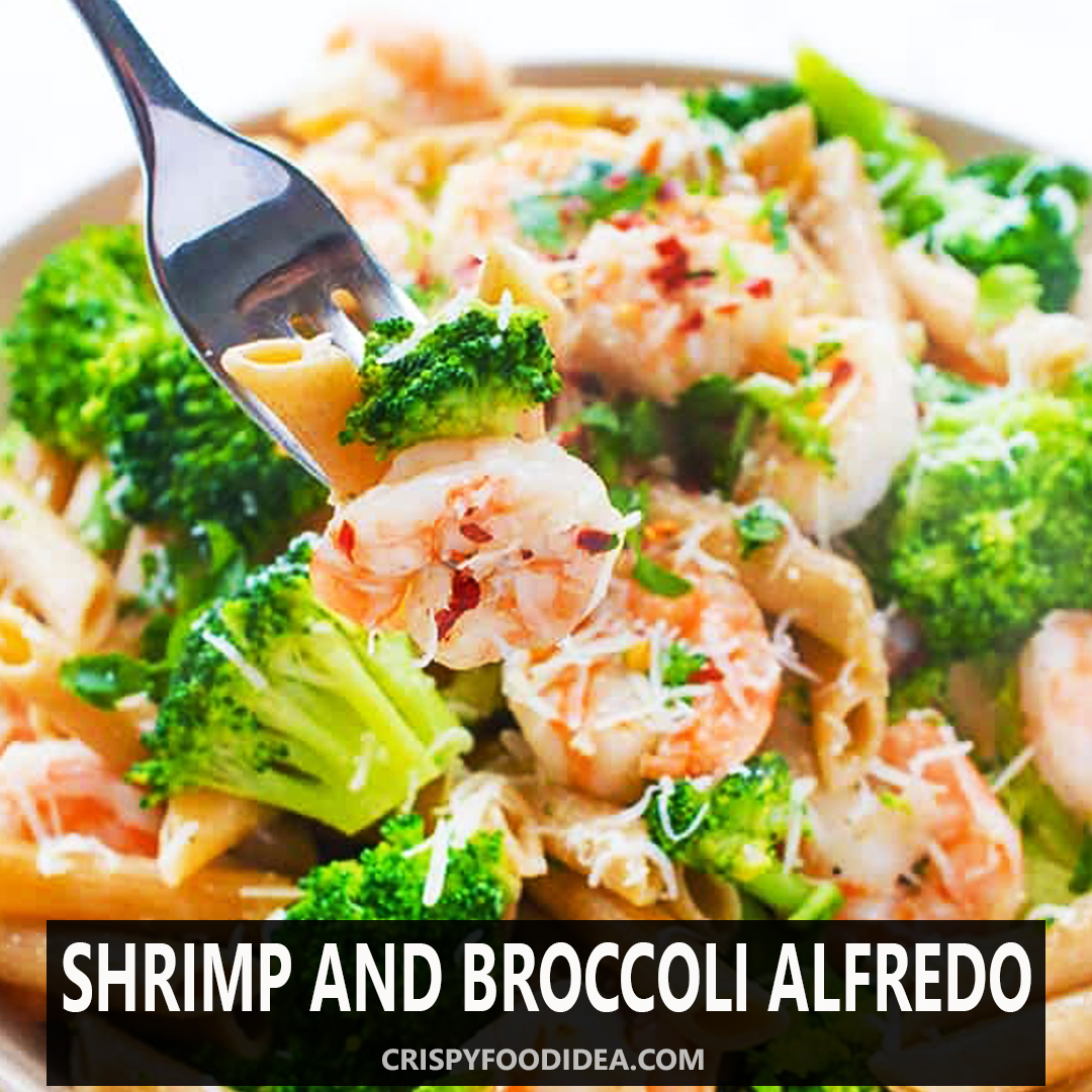 Shrimp and Broccoli Alfredo for mother's Day Dinner