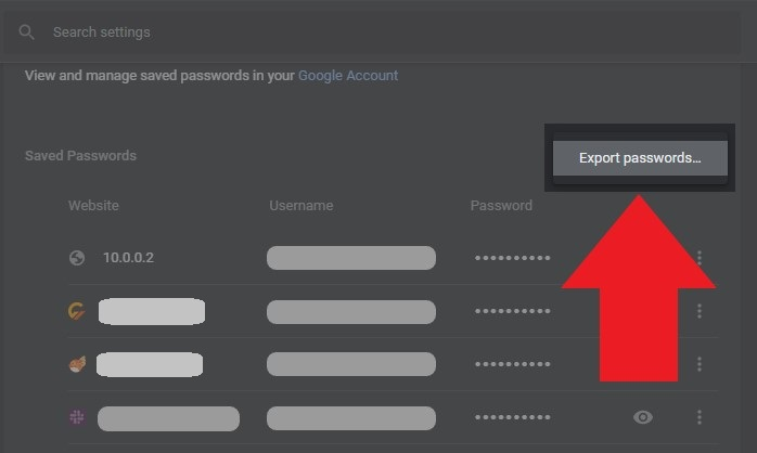 How to View, Edit, Delete, and Export Saved Passwords in Google Chrome 7