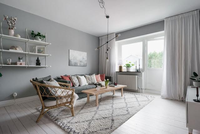 Nordic grey elegant interior