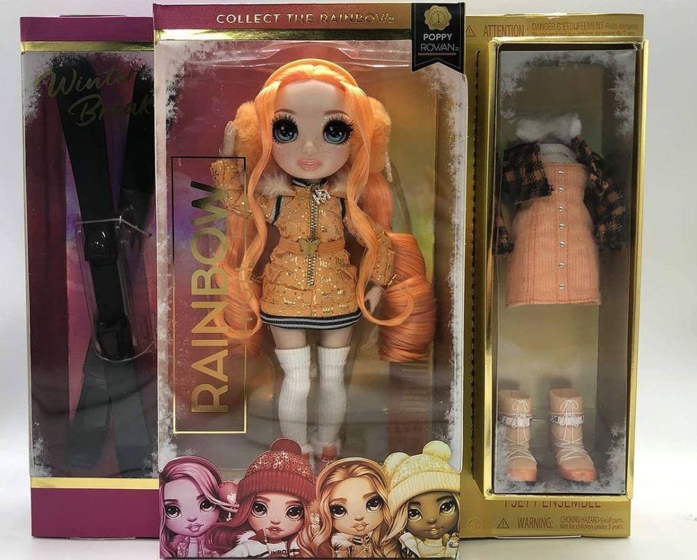 Оранжевая кукла Rainbow High Winter Break Poppy Rowan 2021
