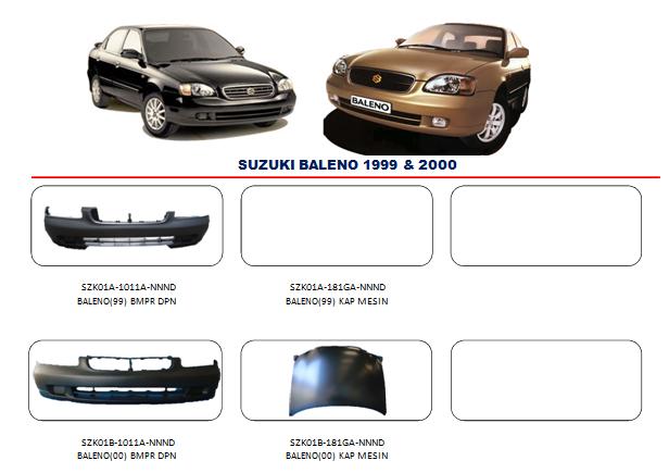 Bemper Suzuki Baleno 1999-2000