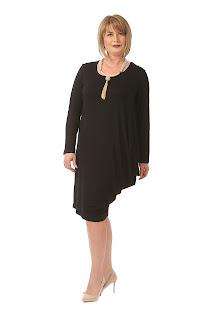 Rochie elegantă neagră pentru mama miresei