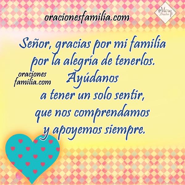 Imagen con oración por mi familia ayúdanos Dios