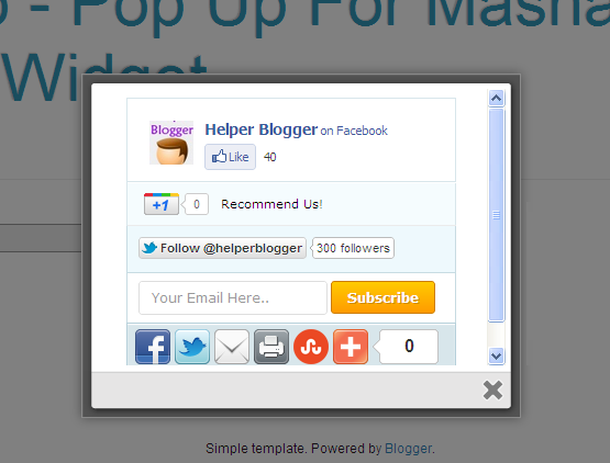 Myself: Jquery popup using colorbox iframe load external page