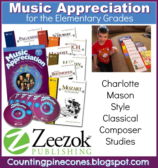 Zeezok publishing, music appreciation, homeschool music program, Charlotte Mason