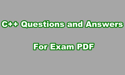 C++ Questions and Answers For Exam PDF