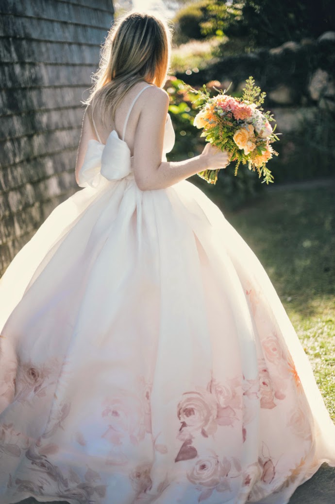 Wedding Inspo // Water-colored Gown