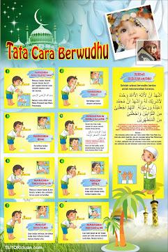 Poster Tata Cara Wudhu PSD