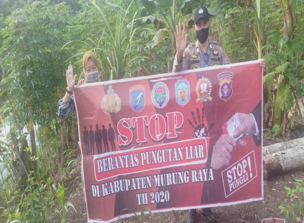Tak Bosan Bhabinkamtibmas Brigpol Bambang Sosialisasi Warga  Bersama Perangi Pungli