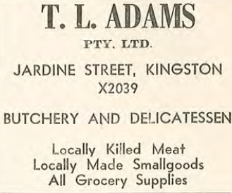 Advertisement from ArchivesACT Collection, Kingston Traders Association Canberra ACT, Page 13