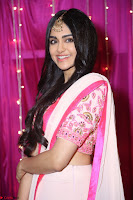 Adaa Sharma in White Pink Saree at Zee Telugu Apsara Awards 2017 45.JPG