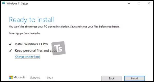 تثبيت Windows 11 على حاسوب غير مدعوم