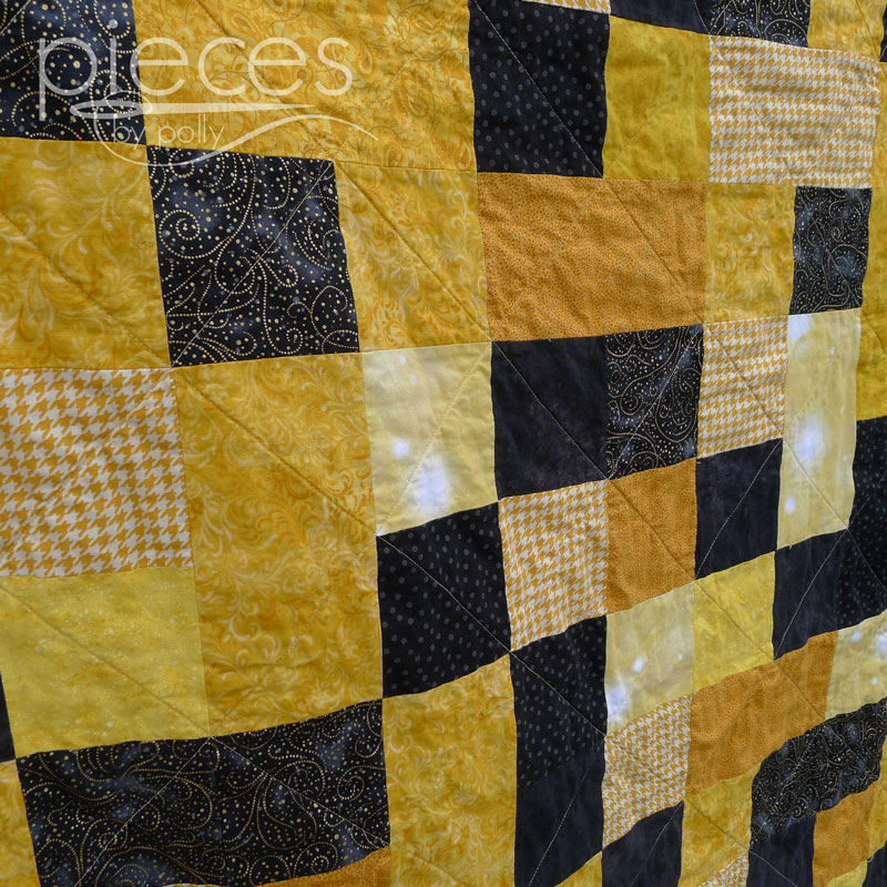 Pieces By Polly Hufflepuff Golden Snitch Quilt Harry