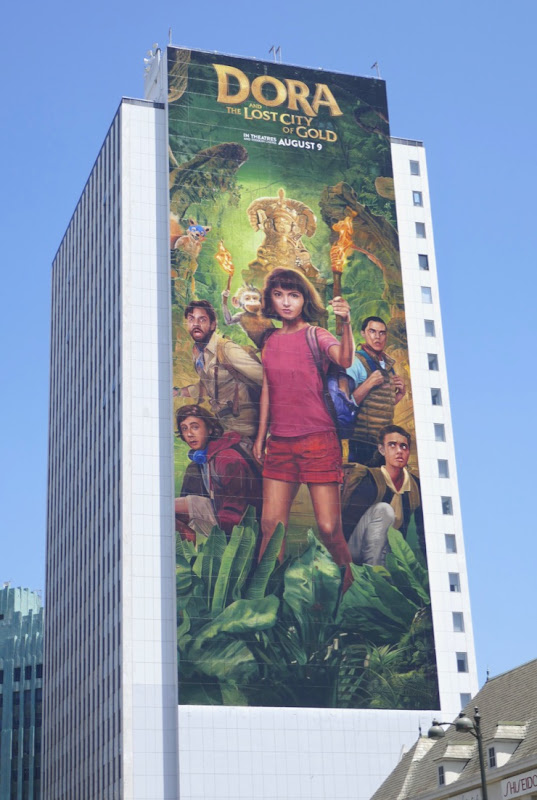 Giant Dora and Lost City of Gold movie billboard