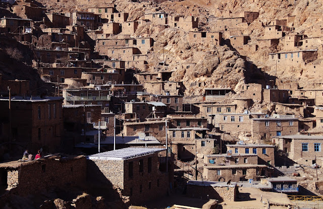 The stone and mud houses of Palangan. Kermanshah