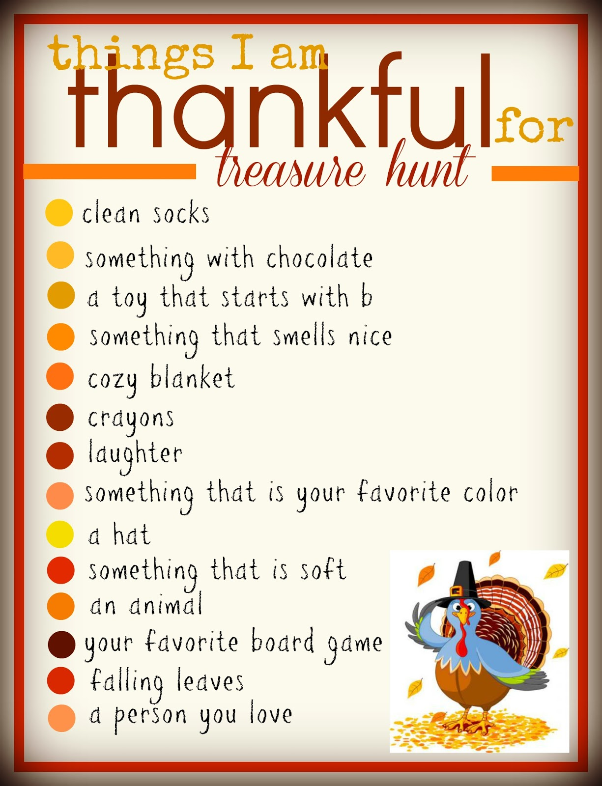 A Thanksgiving Treasure Hunt A Girl And A Glue Gun