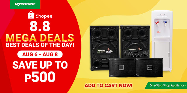 Get Up to 40% Off on XTREME Appliances this Grandest 8.8 Online Sale Events!