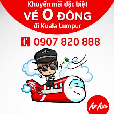 Khuyến mãi vé máy bay 0 đồng đi Kuala Lumpur