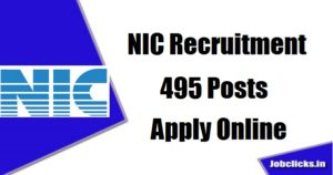 National Informatics Centre (NIC) Recruitment for 495 Scientist – 'B' & Scientific/Technical Assistant – 'A' Posts 2020