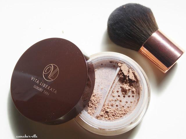 poudre minérale auto-bronzante vita liberata luxury tan