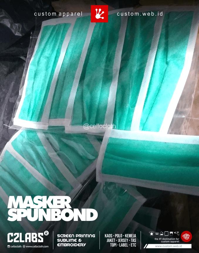 Masker Spounbond 3000 Rupiah Per Pcs Min 100 Pcs