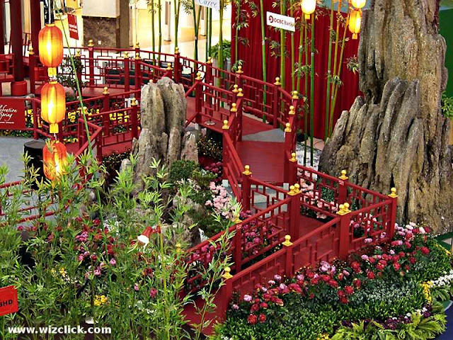 Walkway of The Curve Mall 2013 Chinese New Year Celebration of Spring Rock Garden.
