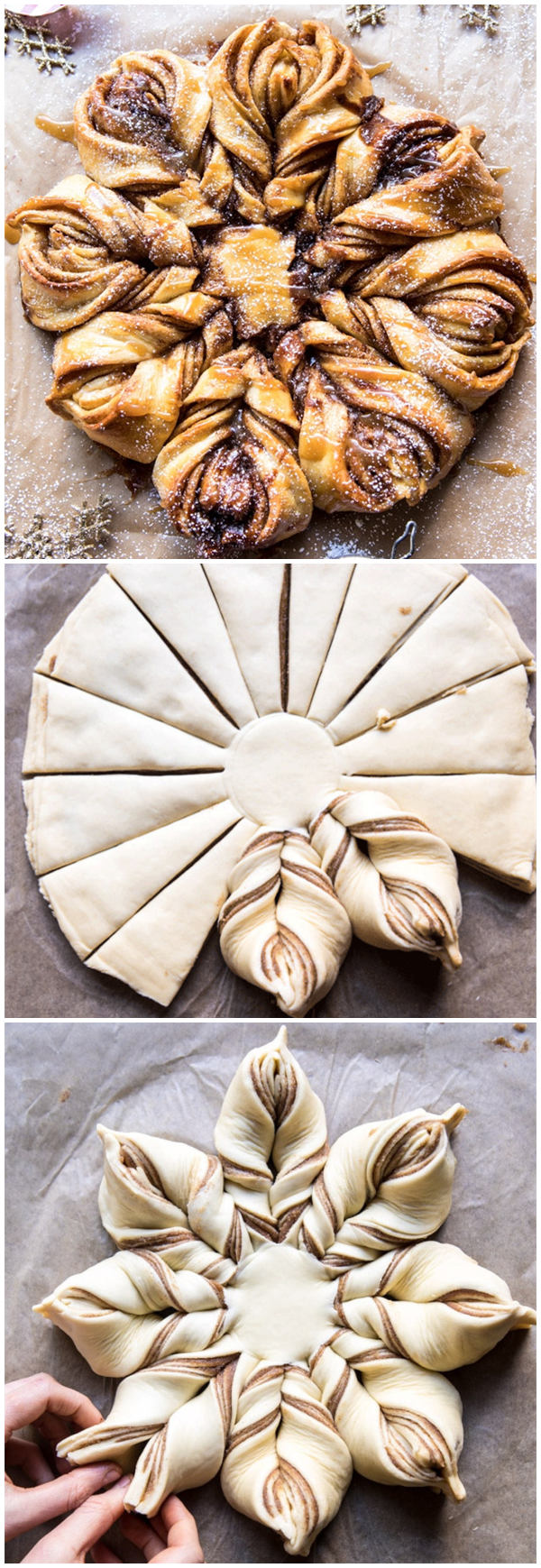 Snowflake Pull-apart Monkey Bread