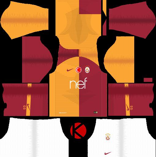 507510e006 Galatasaray S.K. 2018 19 Kit - Dream League Soccer Kits. UCL Badge Kits