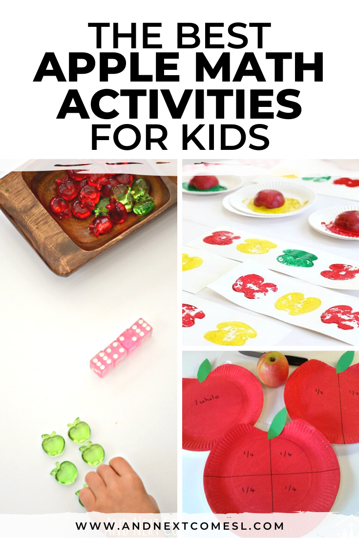 Apple math activities for toddlers, preschoolers, kindergarten and beyond!