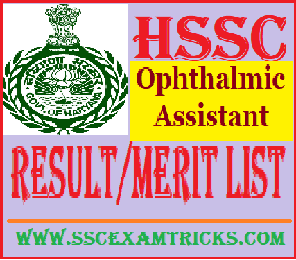 HSSC Ophthalmic Assistant Result