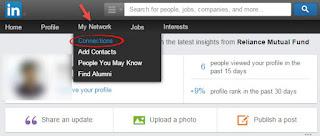 My Network tab in LinkedIn