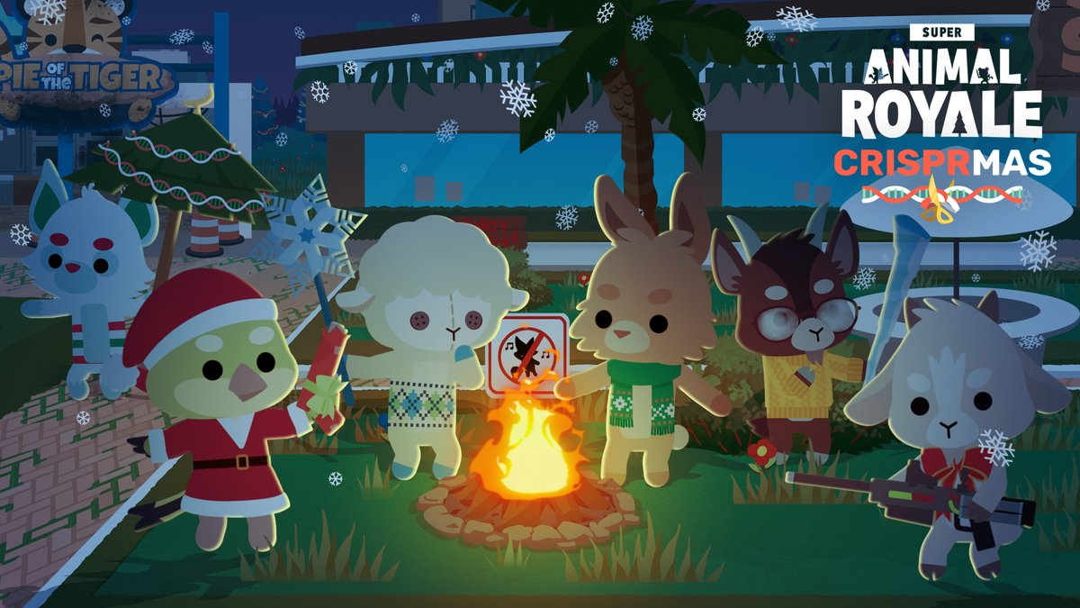 Modus Games and Pixile Studios Start the Holidays Off Right with Super Animal Royale CRISPRmas Event