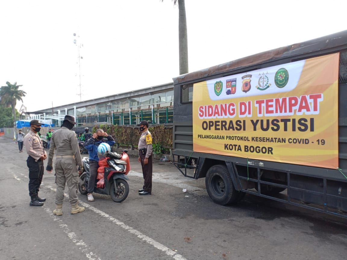 15 Orang Terjaring Operasi Yustisi Prokes Covid-19 Di Bogor