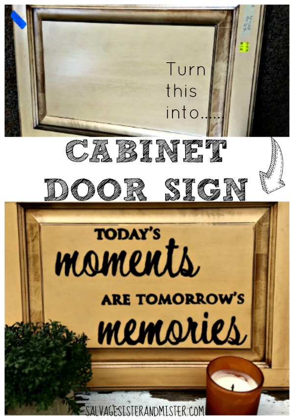 Have some old cabinet doors on hand? Whether you have remodeled or found them junkin, make these doors into signs. This diy project is easy to do and uses most items you already have on hand. Make a cabinet store sign to give as a gift, for your own home decor, or to sell at a craft / vintage fair.