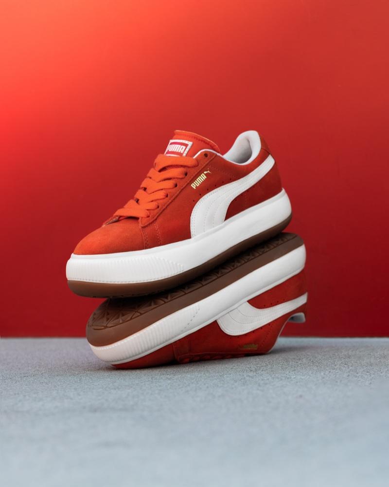 PUMA Suede Mayu sneaker in red