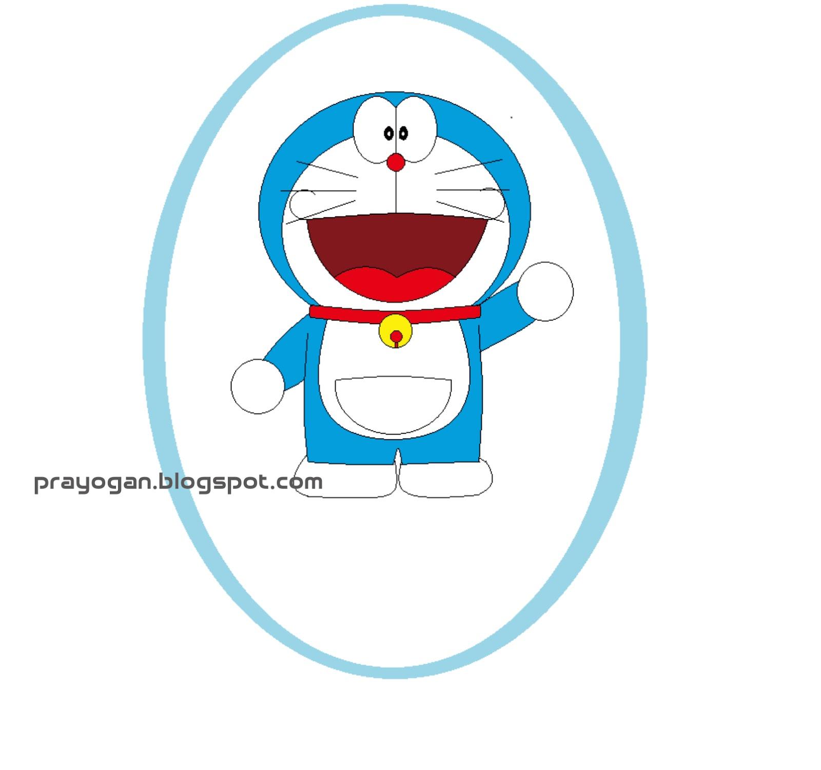 Menggambar Doraemon Dengan Paint di Komputer | Grafika Anime Table