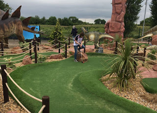 Jurassic Adventure Golf at Bents Garden Centre in Glazebury