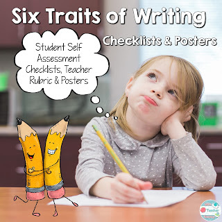Six Traits of Writing Checklists, Posters and Rubric on TpT